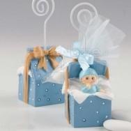 Bomboniera serie pacco regalo bimbo con 3 confetti