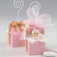 Bomboniera pacco regalo bimba con 3 confetti