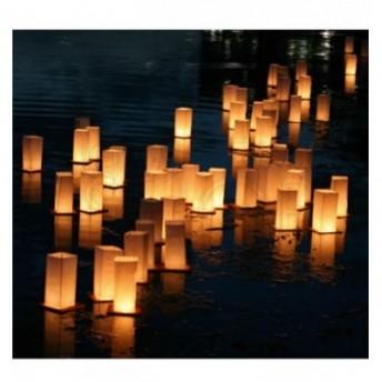 Lanterne galleggianti in legno 2 pezzi