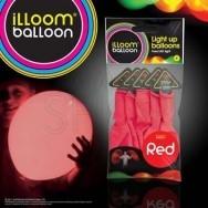 5 palloncini rossi a led