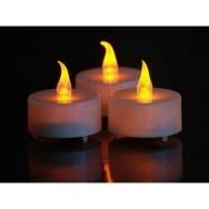 Candeline a led tea lights con batteria 6 pezzi