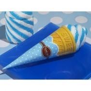 Asciugamano a forma di cono gelato azzurro