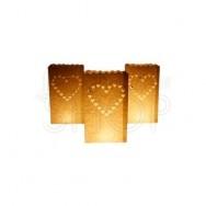 Sacchetti porta candele cuore 5 pezzi