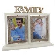 Portafoto wood vintage Doppio Family