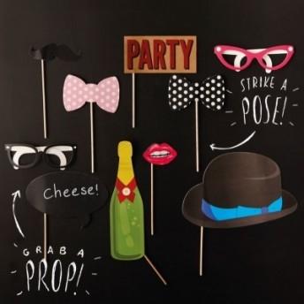 Accessori per foto divertenti serie party 10 pezzi
