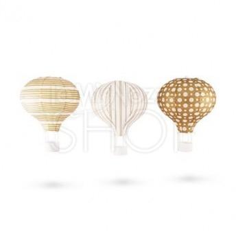Lanterne in carta a forma di mongolfiera 3 pezzi
