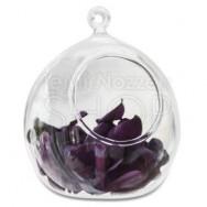 Sfere decorative in vetro trasparente - 4 pezzi