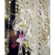 Vasi decorativi in vetro trasparente - 4 pezzi