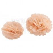 Allestimento pom poms rosa pastello 5 pezzi