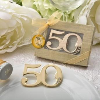 Segnaposto Per 50 Anni Di Matrimonio.Apribottiglie 50 Anniversario Con Strass