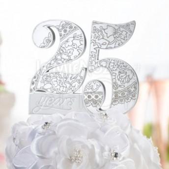 Cake topper 25°anniversario