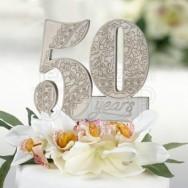 Cake topper 50° anniversario