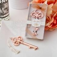 Tappa bottiglie con chiave rosa