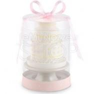 Candela a forma di wedding cake rosa