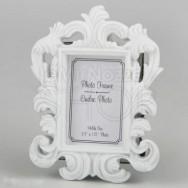 Cornice portafoto bianca dallo stile barocco