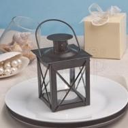 Piccola lanterna in vetro, colore nero