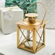 Piccola lanterna in vetro colore oro