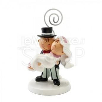 Segnaposto Matrimonio Sposi.Segnaposto A Forma Di Sposa In Braccio Allo Sposo Lemienozze Shop