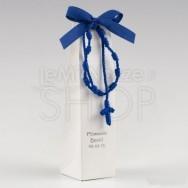 Braccialetto rosario blu con 2 cioccolatini