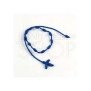 Braccialetto rosario in macramè blu