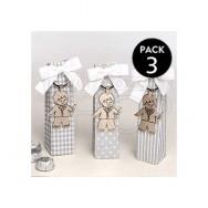 Portachiavi in metallo a forma di bimbo con candela + 3 cioccolatini