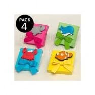 Calamita pesci con scatola confetti - 4 pezzi