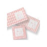 Biglietto di auguri con biberon rosa 102 pezzi