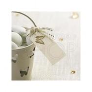Etichette in carta con farfalla avorio 10 pezzi