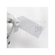 Etichette in carta con cuore moderno bianco e argento 10 pezzi