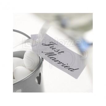 Etichette segnaposto Just Married bianche 10 pezzi
