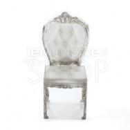 Box a forma di sedia glamour argento 10 pezzi