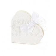 Scatola a forma di cuore bianca 10 pezzi