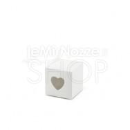 Scatola bianca con cuore traforato 10 pezzi
