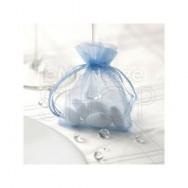 Sacchetti portaconfetti in organza blu 10 pezzi
