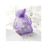 Sacchetti portaconfetti in organza lilla 10 pezzi