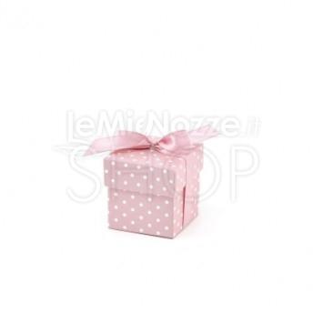 Scatolina rosa a pois 10 pezzi
