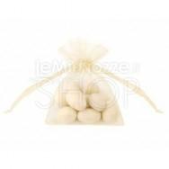 Sacchetti portaconfetti in organza avorio 20 pezzi