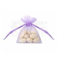 Sacchetti portaconfetti in organza lilla 20 pezzi