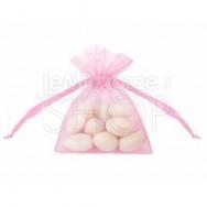 Sacchetti portaconfetti in organza rosa 20 pezzi