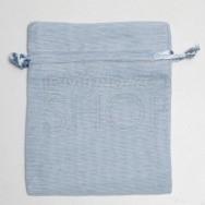 Sacchetto portaconfetti azzurro in cotone misura media 24 pezzi