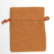 Sacchetto portaconfetti arancio in cotone misura media 24 pezzi