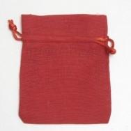 Sacchetto portaconfetti rosso in cotone misura media 24 pezzi