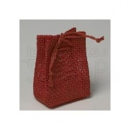 Sacchetto portaconfetti in rete rosso 24 pezzi