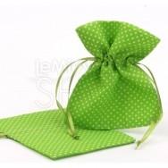 Sacchetti portaconfetti verdi a pois 24 pezzi