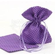 Sacchetto portaconfetti a pois lilla 24 pezzi