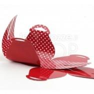 Scatolina a pois rossa 24 pezzi