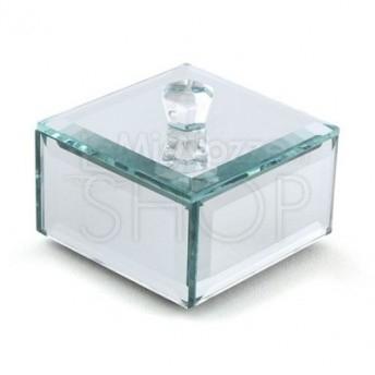 Scatoline in vetro con specchio 4 pezzi