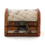 Scatoline in legno a forma di baule 6 pezzi