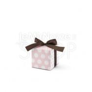 Scatolina rosa e bianca a pois 10 pezzi