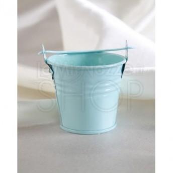 Secchiello porta confetti azzurro